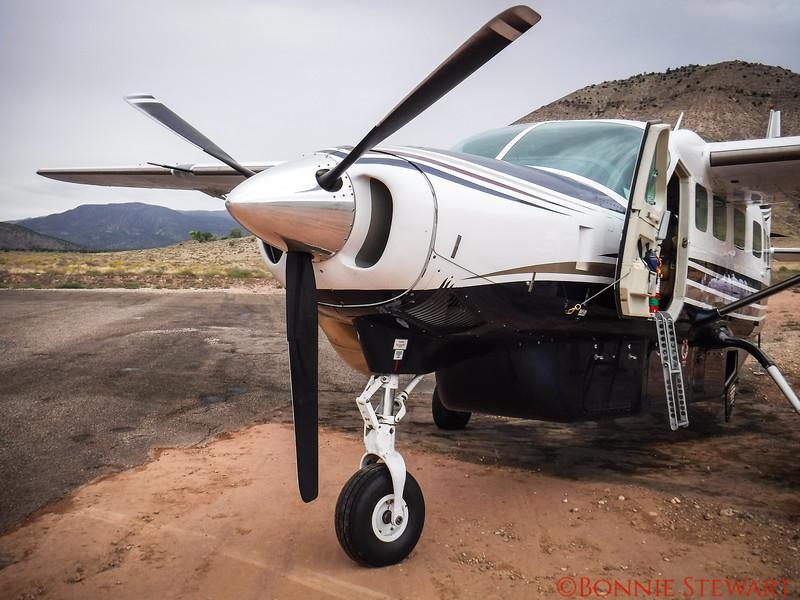 Plane landed at Bar 10 airstrip