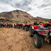 Trip participants took jeeps and ATVs to the rim of the Grand Canyon from Bar 10 Ranch