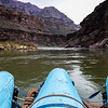 River raft begins the journey down the Colorado River