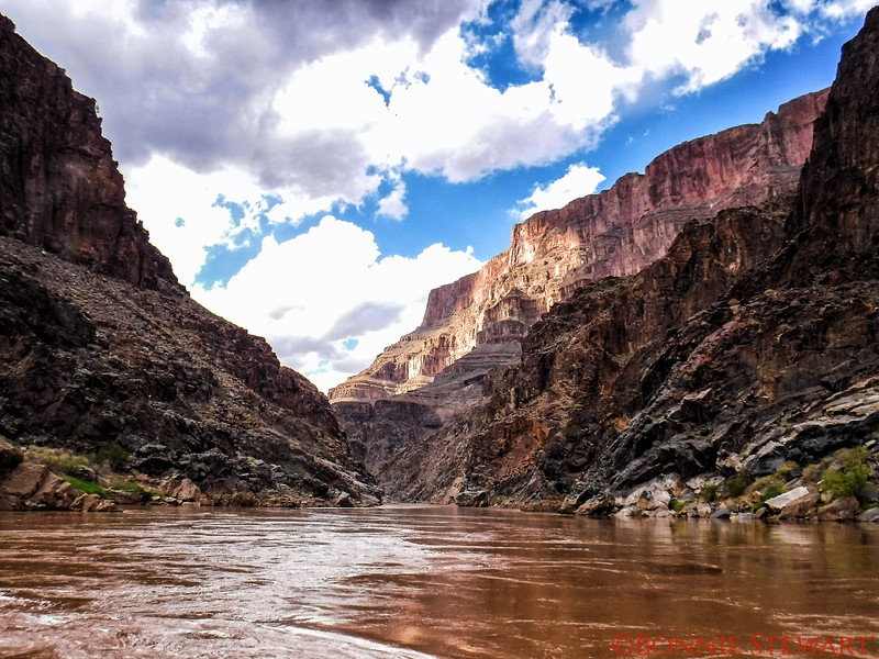 More scenery at the bottom of the Grand Canyon on the Colorado River