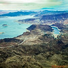Flight path over Hoover Dam and Lake Mead