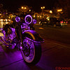 Another cycle of lights on the flashy motorcycle