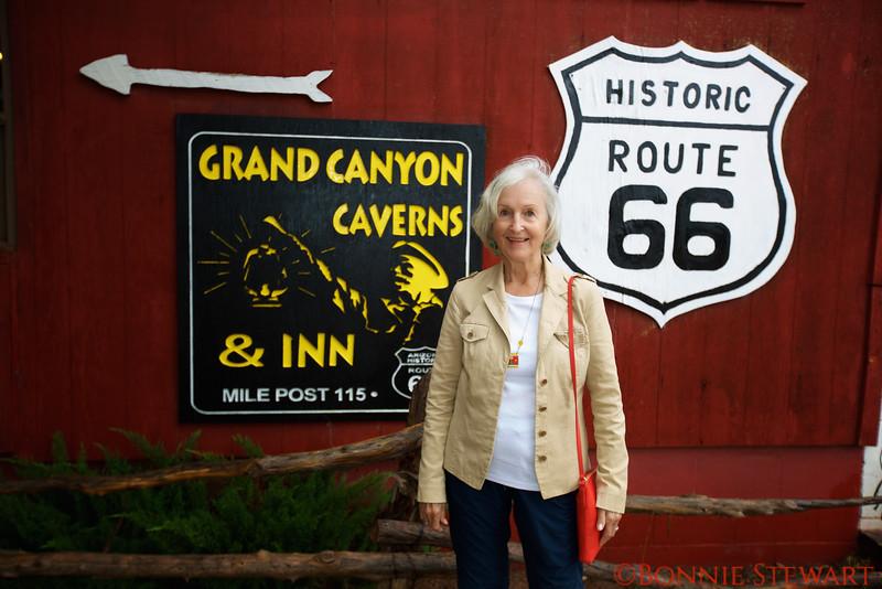 Frances Lyons at the Grand Canyon Caverns