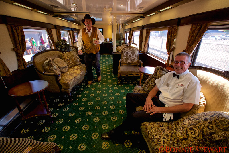 Inside the Parlor Car of the Grand Canyon train