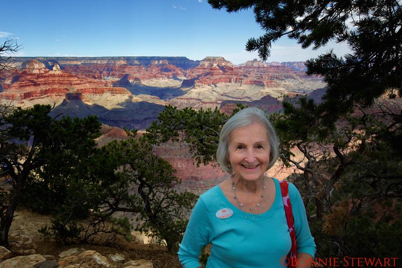 Frances Lyons at the Grand Canyon