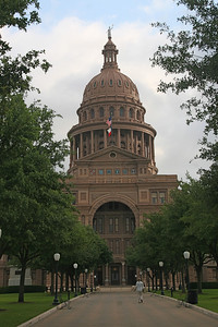 The State Capital at the North end of Congress Street is the largest in the USA