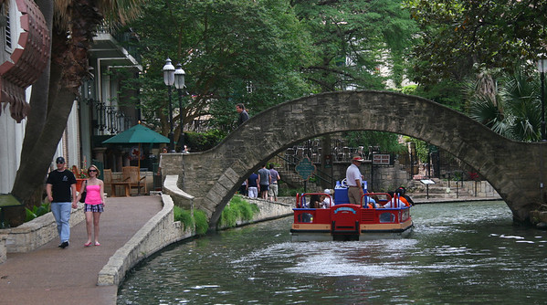 Riverwalk in San Antonio is a collection of restaurants, shops and boat rides along a reconditioned section of the river that runs through the city.