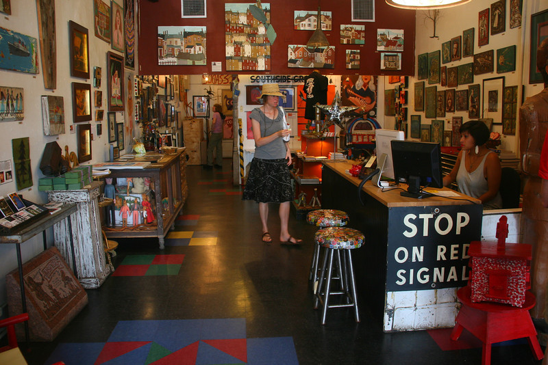 """The """"Yard Dog"""" is one of many interesting shops along South Congress"""