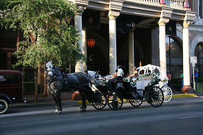 You can take a carriage to the Driskill Hotel