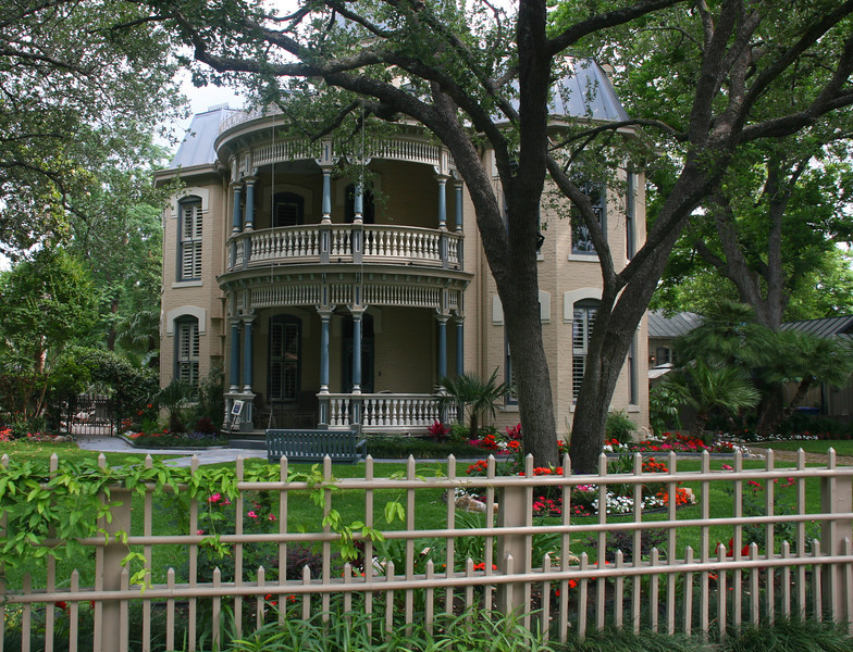 The King William Historical District in San Antonio has many restored mansions.