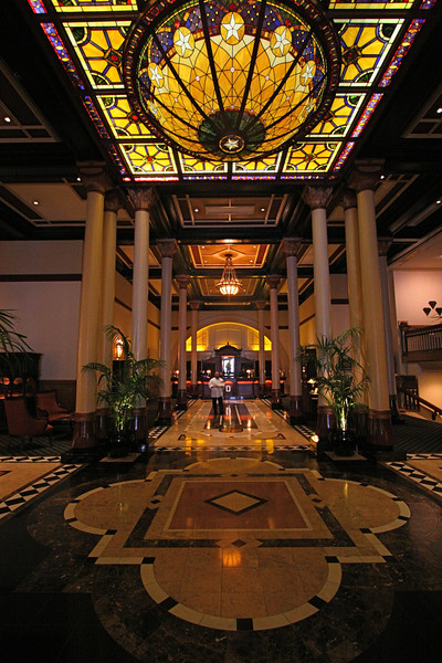 The Driskill Hotel has been restored and has a spectacular lobby.