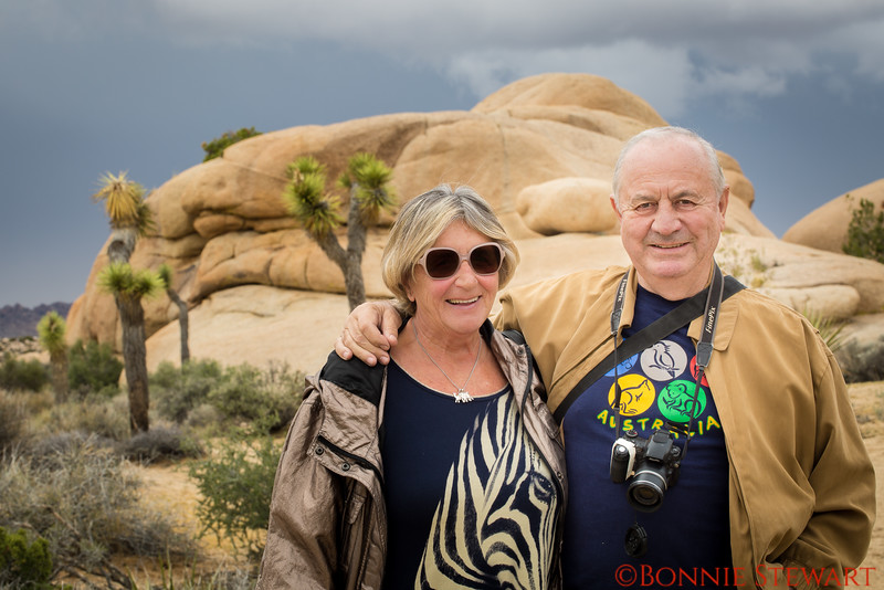 Suzanne and Paul Maroshegyi, Jumbo Rocks in Joshua Tree National Park