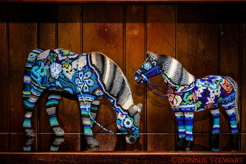 Beaded Horses by Rosendo, Huichol Artisan