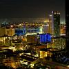 San Diego at night looking towards Petco Park
