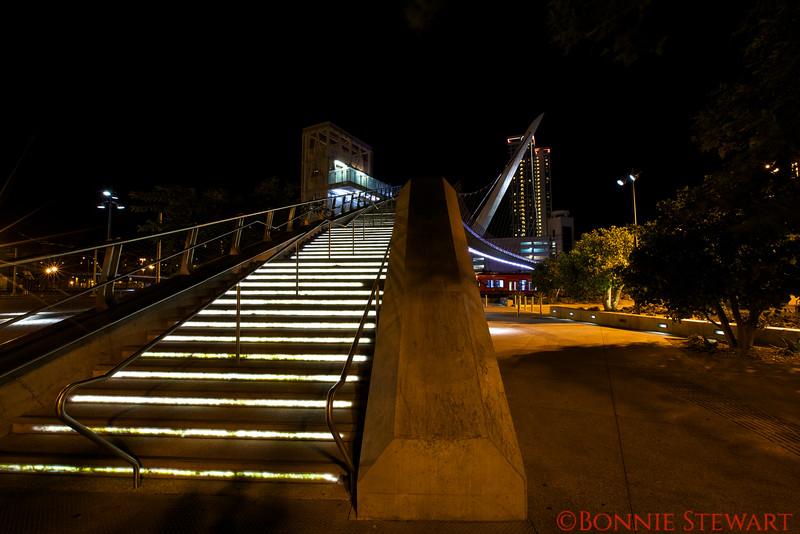 Pedestrian Bridge in Downtown San Diego