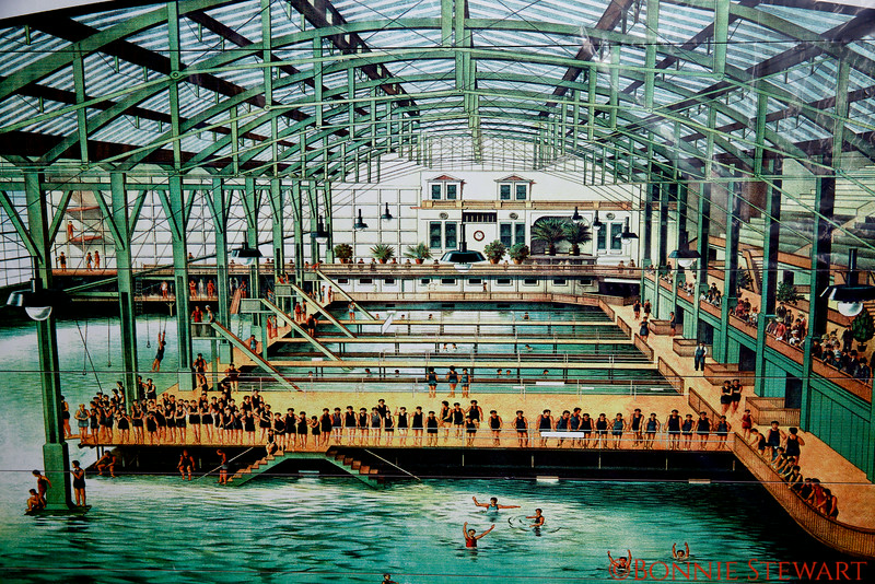 An old picture of the Sutro Baths that were located next to the Cliff House