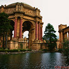 The Rotunda and lagoon of the Palace of Fine Arts that was designed for the 1915 Panama-Pacific International Exposition.