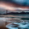 View of the San Francisco Golden Gate Bridge from Crissy Field