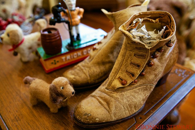 Shoes and Toys in the play room of the Haas-Lilienthal House