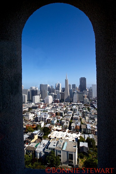 View of San Francisco from Coit Tower
