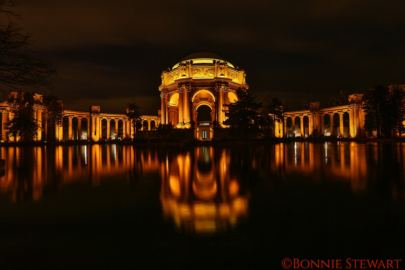 The Palace of Fine Arts built for the 1915 Panama Pacific Exposition, located in the Marina District