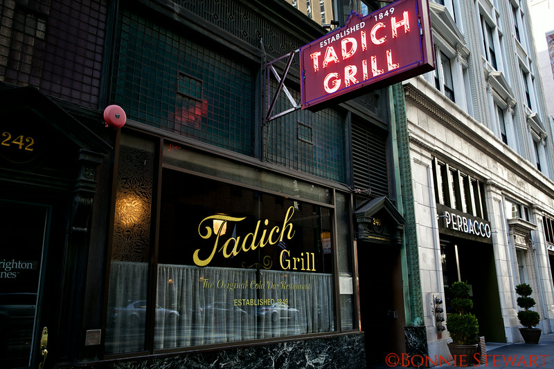 Tadich Grill, Established in 1849, and claims to be the oldest restaurant in the City