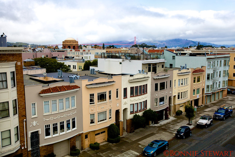 View of the Golden Gate from the Marina District