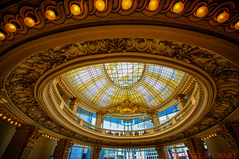 Stained Glass Ceiling in Neiman Marcus, formerly City of Paris Department Store