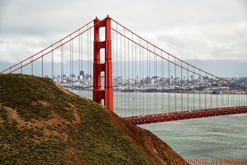 Golden Gate Bride from the North West vista point
