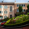 Homes along Lombard Street - the crookedest street in the world