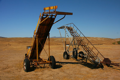 The Traver Ranch, on Soda Lake Road, has lots of old farm equipment on display