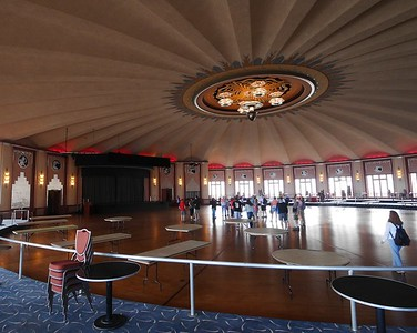 Upstairs is the huge ballroom with a 270 degree view of the bay.