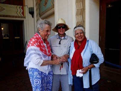 Lou and Joe with our guide, who sang for us with her showwoman's voice.