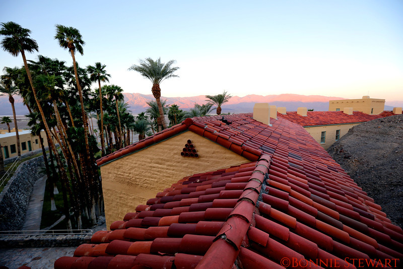 View from the Inn at Furnace Creek in Death Valley