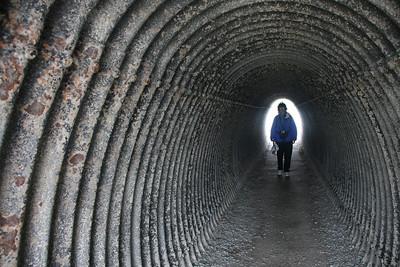 Rena in Cliff Walk Tunnel at Newport, RI