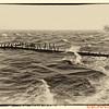 Betterton Pier during Hurricane Sandy