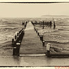 Betterton Pier during Hurricane Sandy
