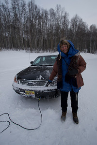 All cars are plugged in during the winter in Fairbanks