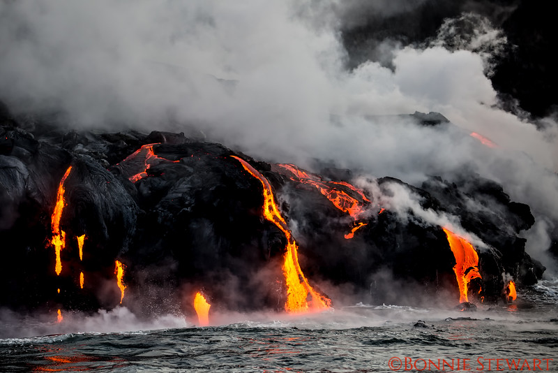 Lava meets the water