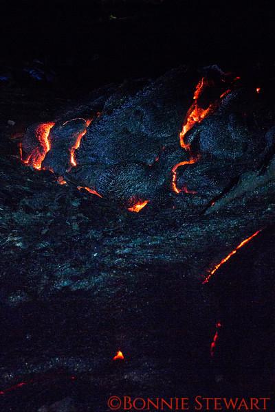 Lava vents where molten lava will eventually emerge