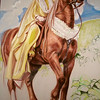Painting of Anna that is hung in the dining room of her palatial ranch estate