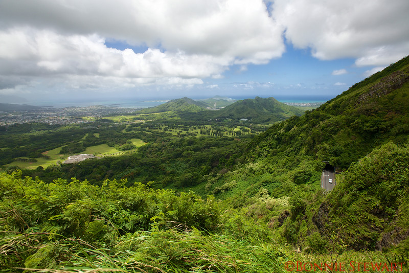 View from Nu'uanu Pali State Wayside looking towards Kailua