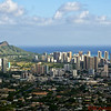 View of Honolulu with Diamond Head in the distance