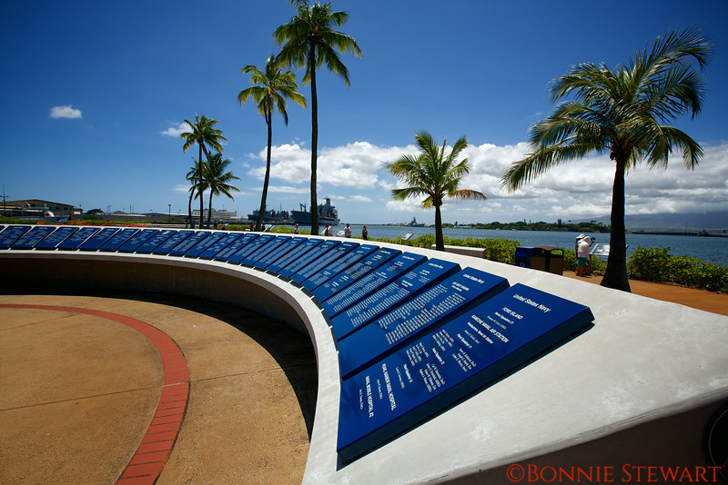Names of the fallen soldiers at Pearl Harbor