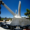 Anchor of the USS Arizona sunk by the Japanese in battle during WWII