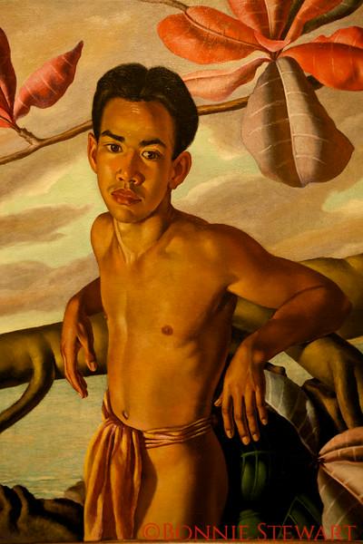 Nanea, 1937<br /> Oil on canvas<br /> Lloyd Sexton, American 1912-1990
