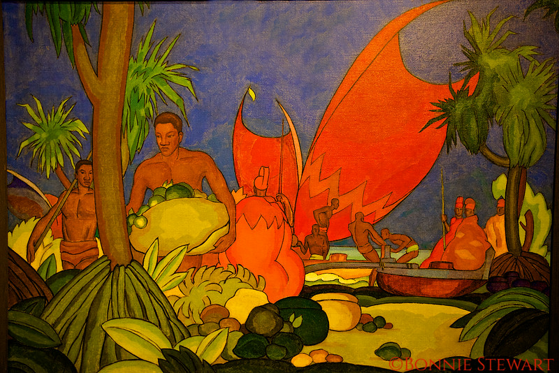Red Sails, 1928 Oil on canvas<br /> Arman Tateos Manookian, American, born Turkey, 1904-1931