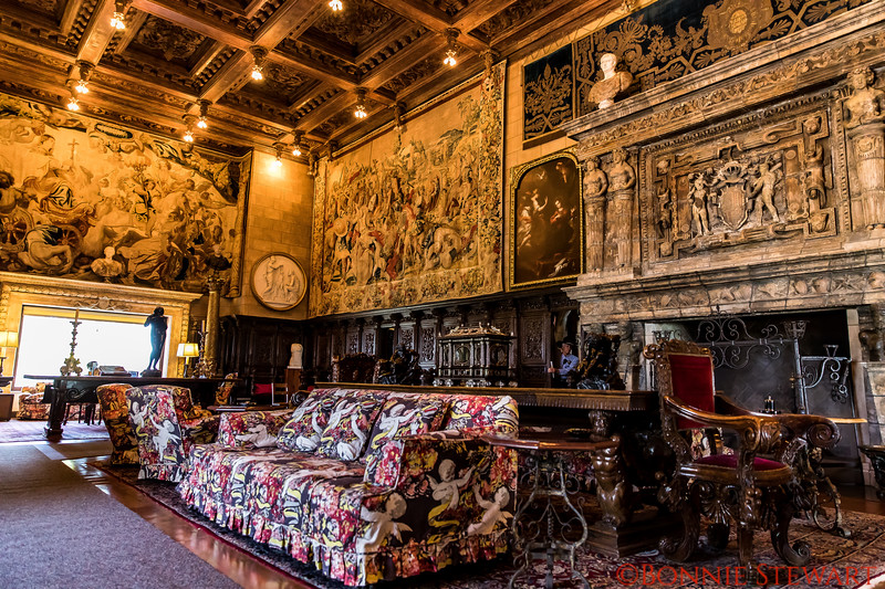 View of the Reception Room at Hearst Castle