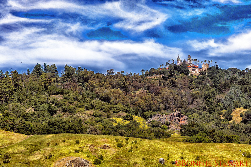 View of Hearst Castle on the Hilltop