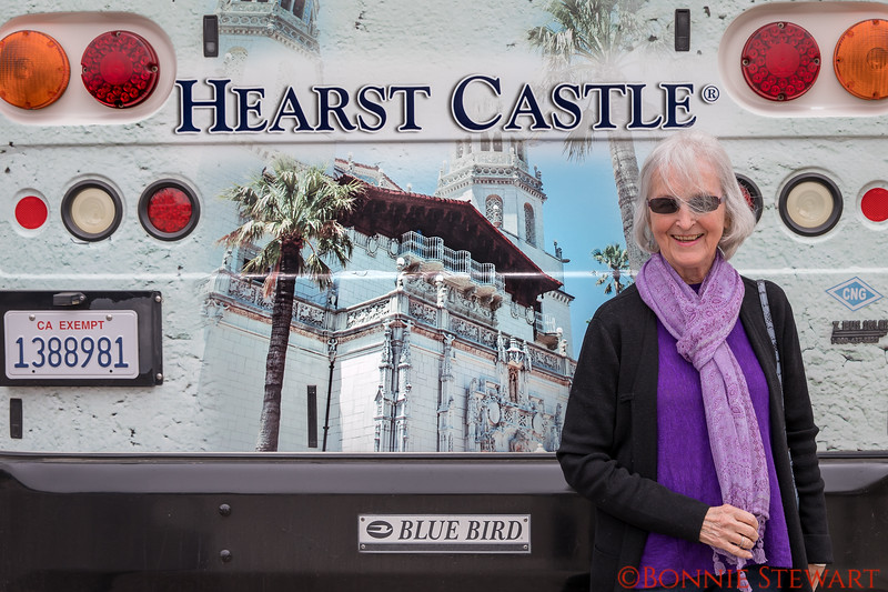 Francie Lyons at Hearst Castle